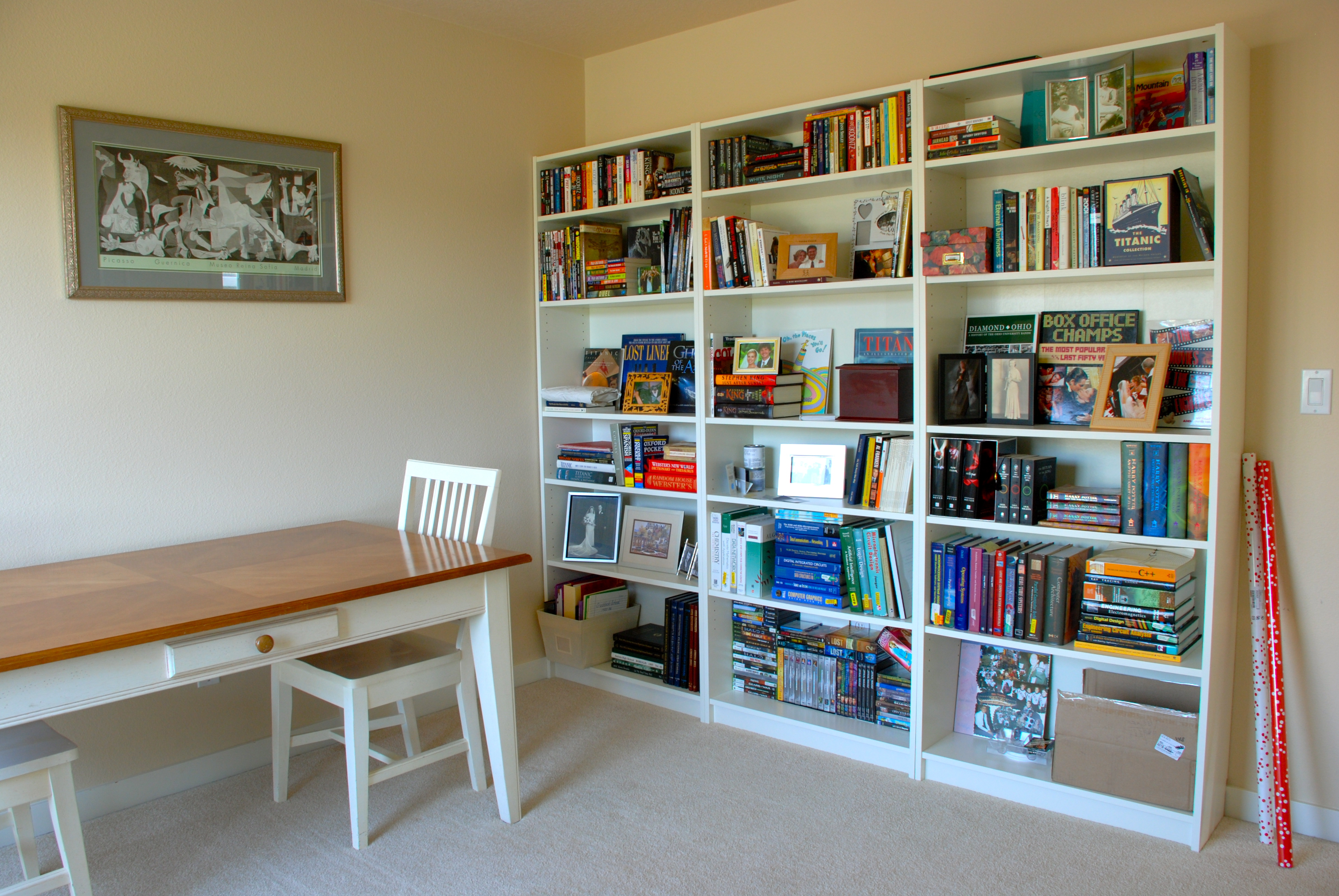 Amazing photo of and moved our TV stand in here and set up our video game  with #6E401F color and 3872x2592 pixels