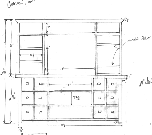 tv stand design plans
