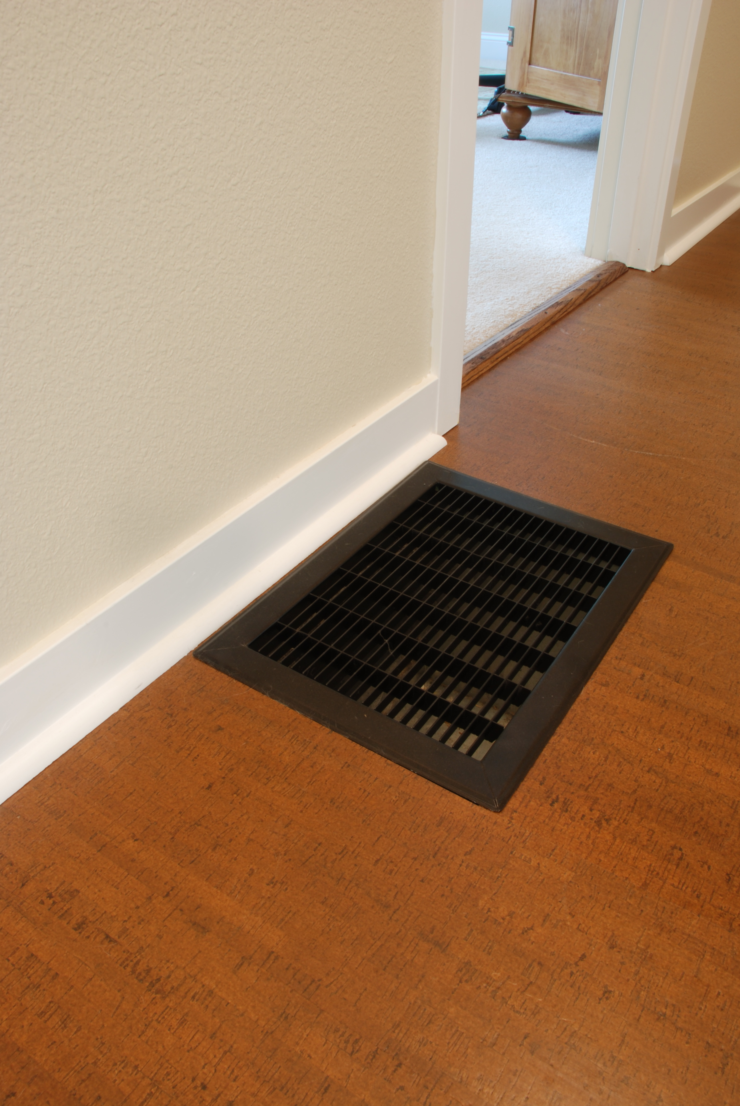 How to cut base molding around wall vent -  And What About Those Shoe Moldings