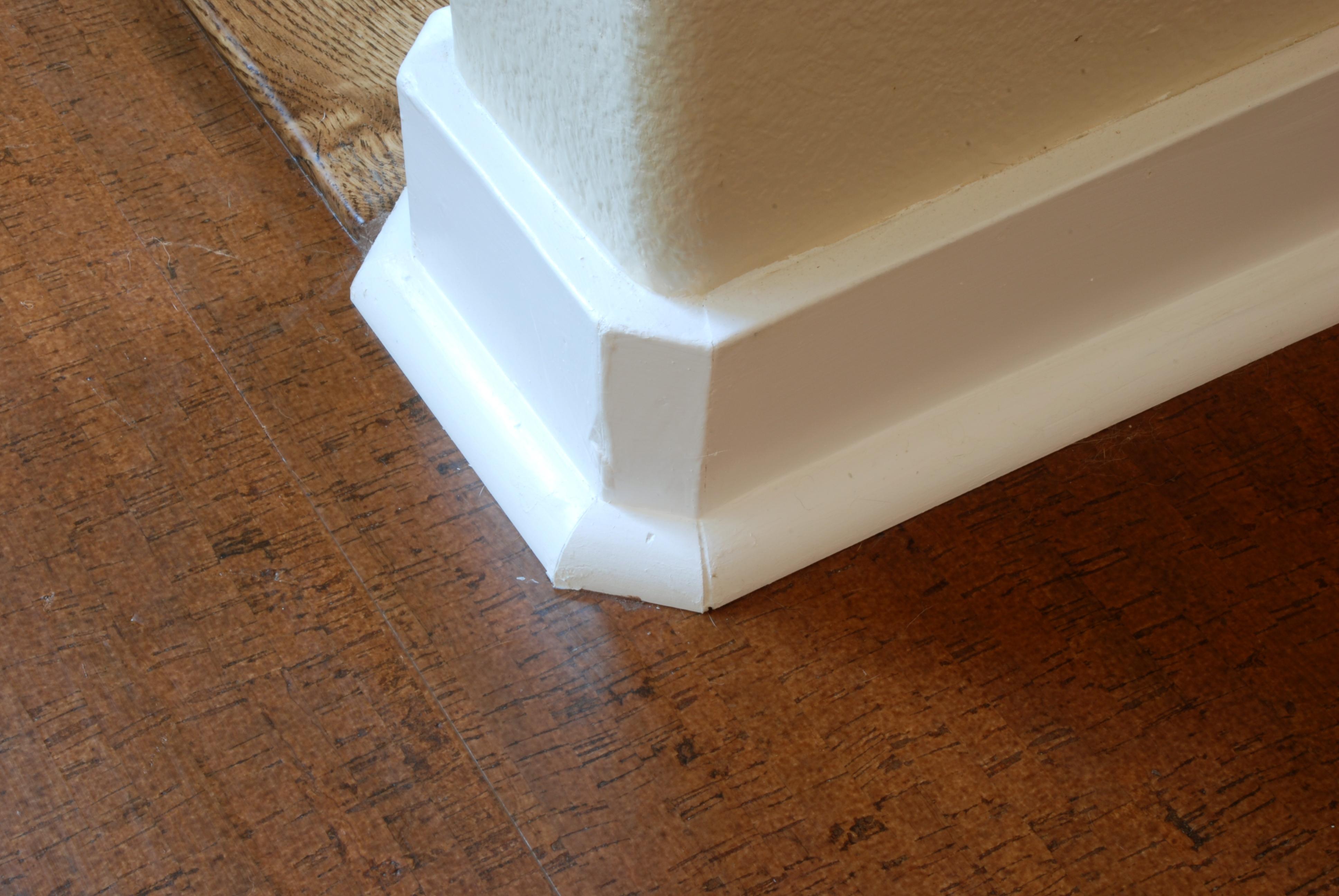 inside corner baseboard shoe molding home