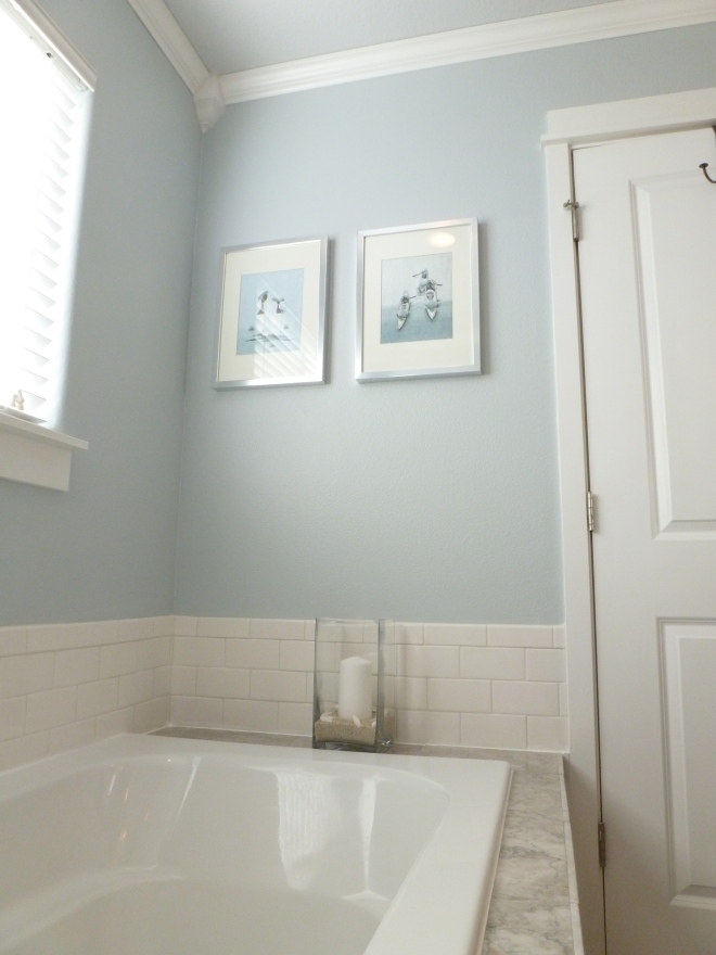 Light blue paint colors home depot - Bathroom Renovation Tell Er All About It